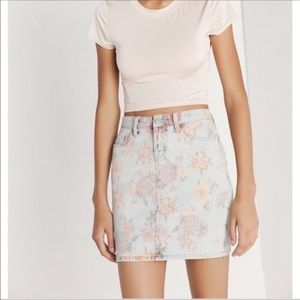 Urban outfitters BDG floral denim skirt size M